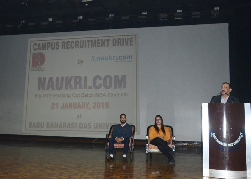 Campus Placement Drive of Naukri com for MBA, B  Tech Students on
