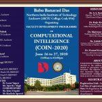 Computational Intelligence(COIN-2020) Faculty   Development Programme (FDP)