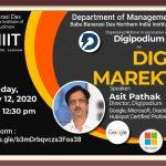 Webinar on Digital Marketing by Mr. Asit Pathak