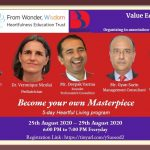 "Web Series on ""Become Your Own Masterpiece"" from Aug 25-29, 20"