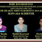 DR APJ AKTU FIRST YEAR RESULT 2019-20 SGPA 10.0 ACHIEVER