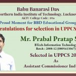 Congratulations for selection in UPPCS 2018