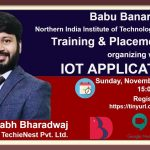 BBDNIIT: T&P Cell organizing webinar on IOT Applications