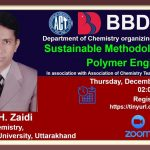 BBDNIIT: Webinar on Sustainable Methodologies in Polymer Engineering