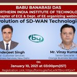 BBDNIIT: Online webinar on Evolution of SD-WAN Technologies