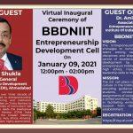 BBDNIIT: Virtual Inaugural Ceremony Of Entrepreneurship Development Cell – ED Cell