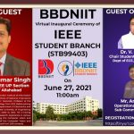 BBDNIIT: Virtual Inaugural Ceremony of IEEE Student Branch(STB99403)