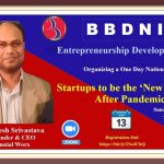 """BBDNIIT: Webinar on """"Startups to be the 'New Normal' After Pandemic in India"""""""