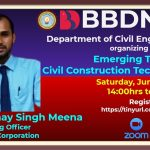 BBDNIIT: Webinar on Emerging Trends in Civil Construction Technology