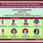 One Week FDP on Empowering Social Life using Artificial Intelligence