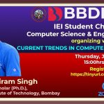 BBDNIIT: IEI CSE Chapter webinar on Current Trends in Computer Science
