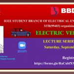 Webinar Series on Electric Vehicle (Part-I) organized by IEEE SB Electrical Engineering